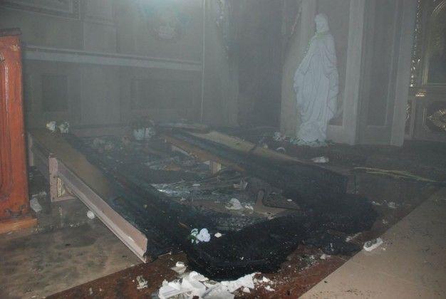Вогнем знищено приміщення різниці (приміщення для переодягання настоятеля) та частково пошкоджено іконостас
