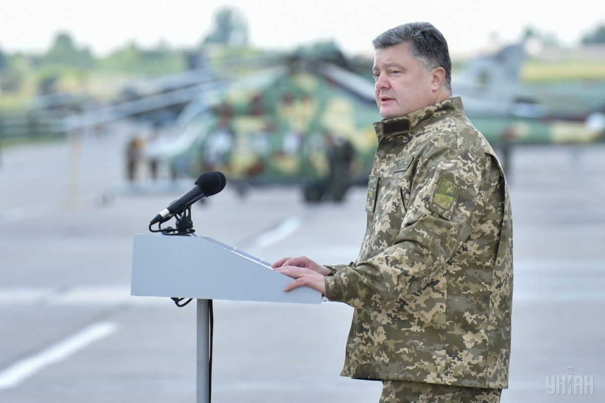 Poroshenko inspected the strongholds of the ATO forces in Donetsk direction / Photo from UNIAN