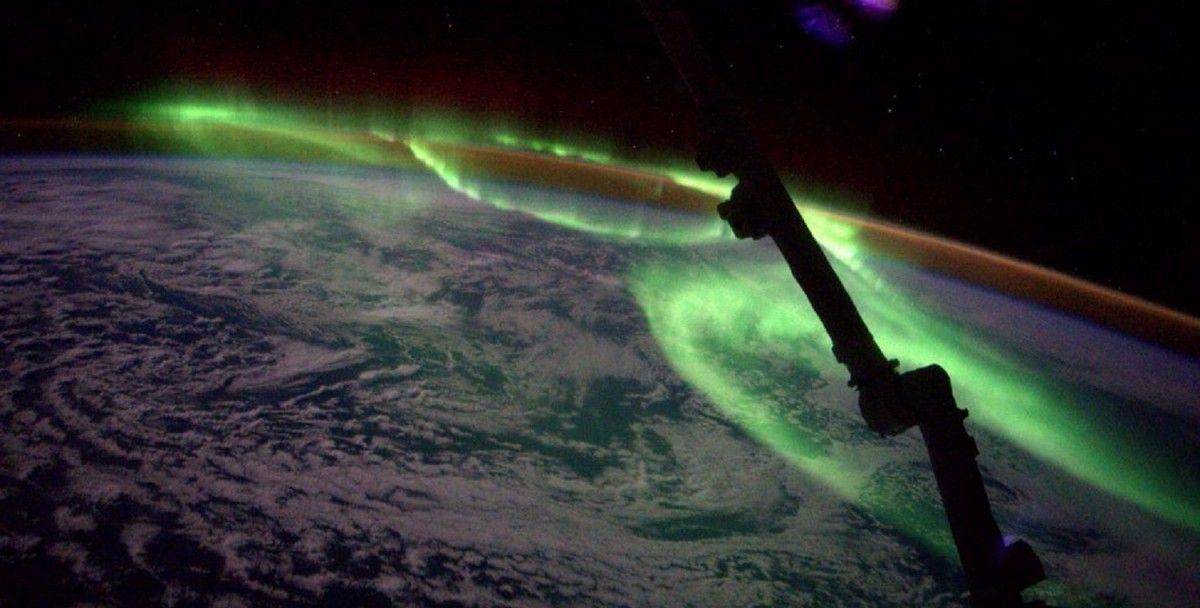 Північне сяйво з космосу / twitter.com/Astro_Jeff