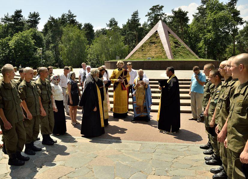 В молебне приняли участие военнослужащие Нацгвардии Украины