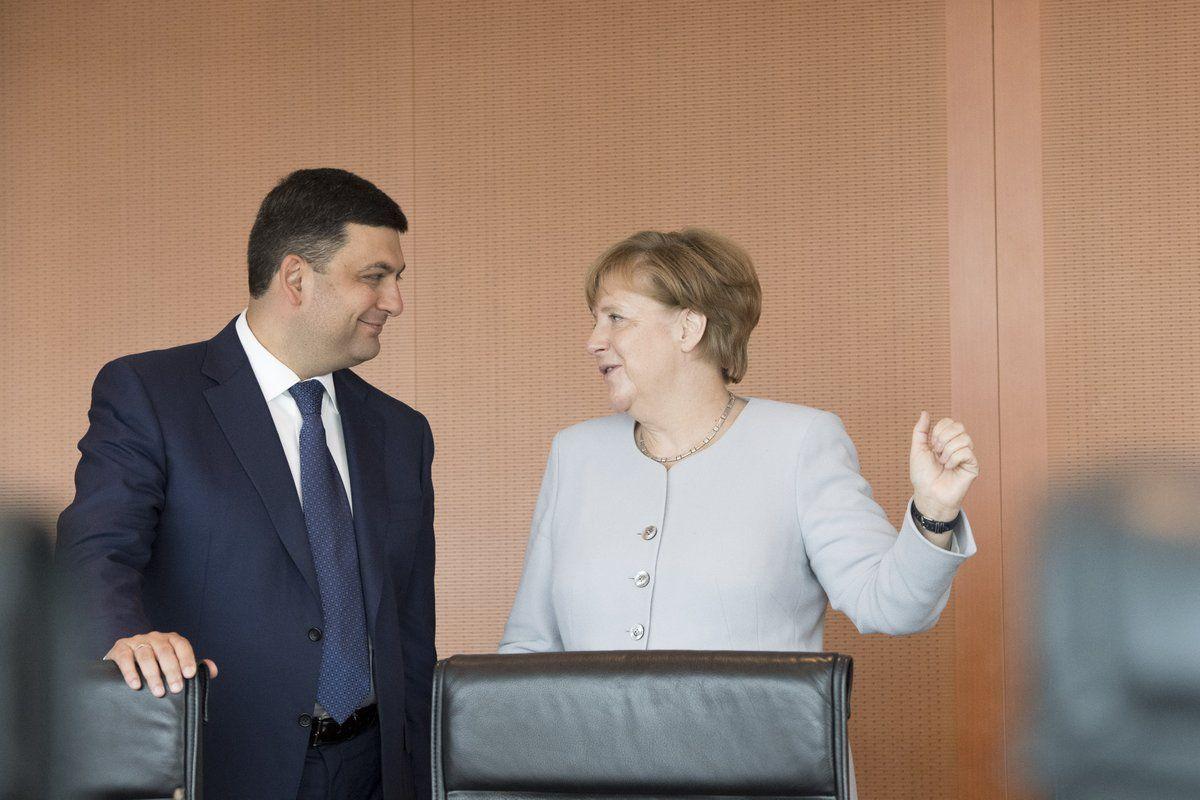 Гройсман, Меркель / twitter.com/VGroysman
