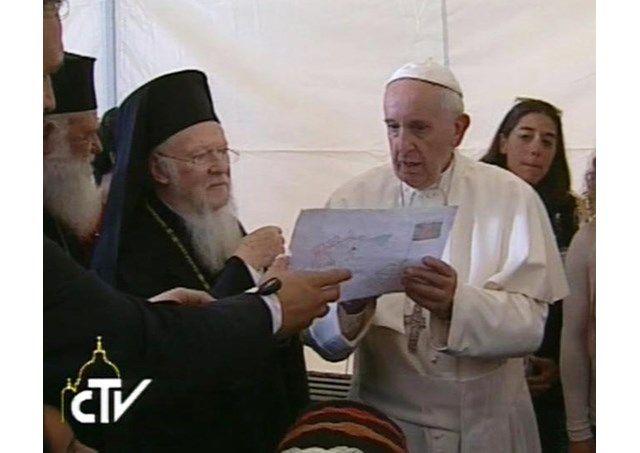 Патриарх Варфоломей обратился с посланием к Папе Франциску