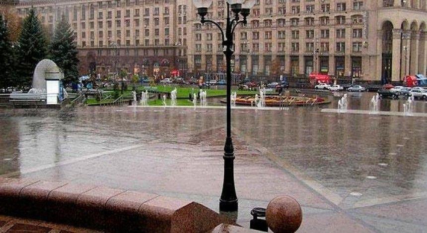 В Киеве завтра пройдет ливень, температура до +9°