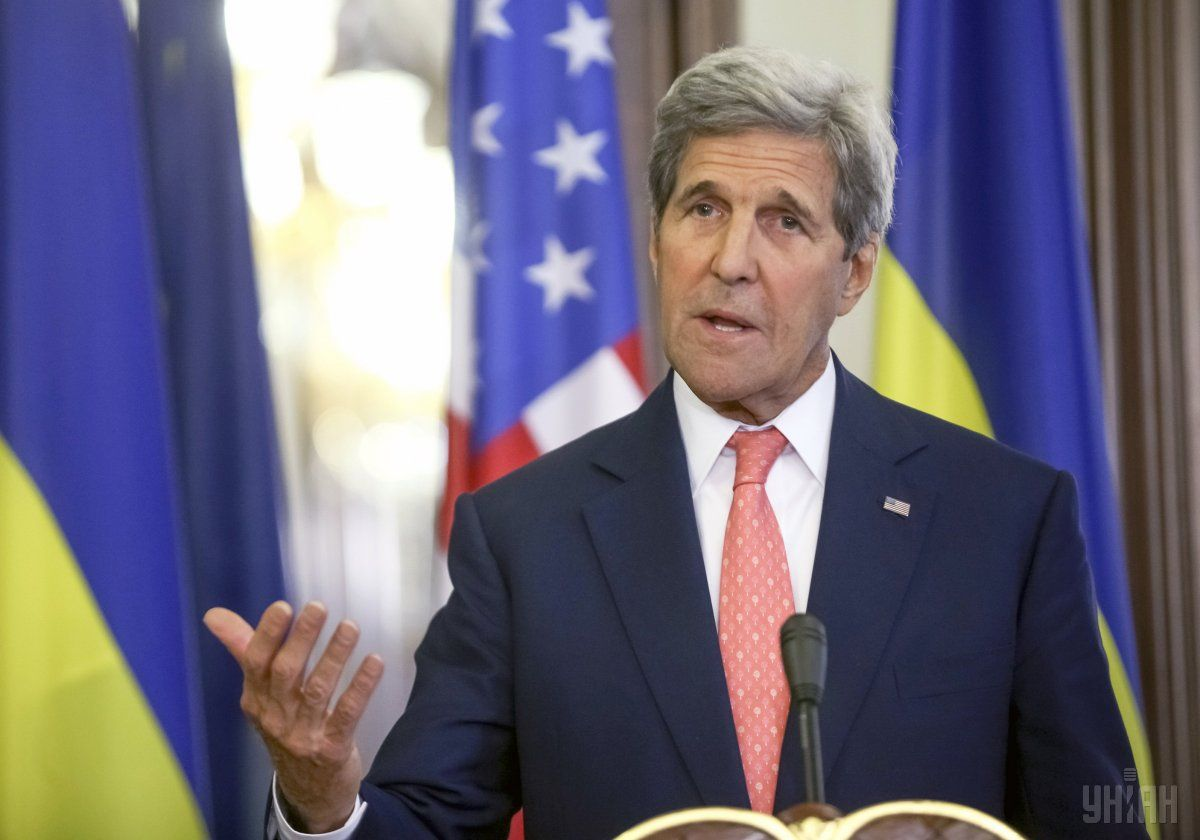 Kerry is visiting Kyiv on Thursday prior to the Warsaw NATO summit / Photo from UNIAN