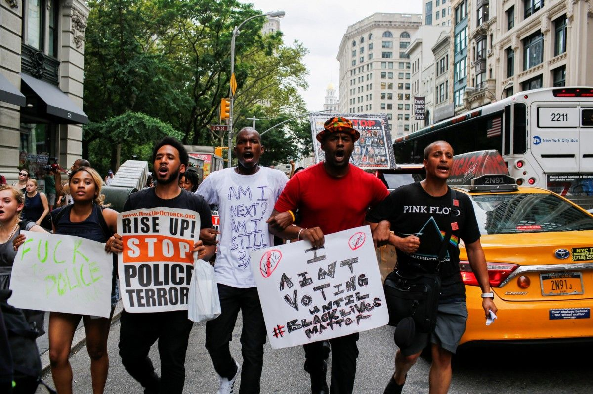 police brutality against the black people in the united states Protest against police brutality of people of any race killed by police when he shot a black man in raleigh police have said.