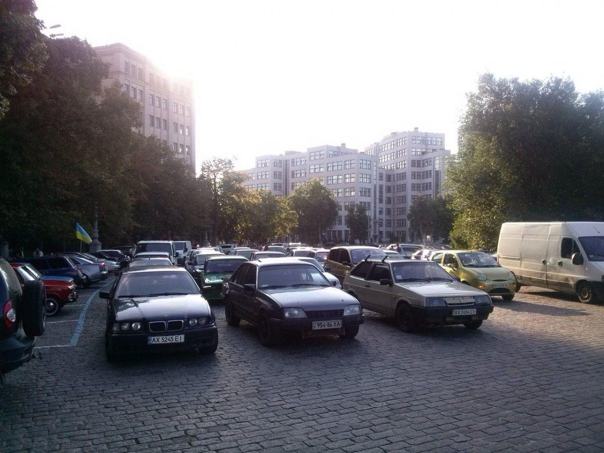 В Харкові автомобілісти протестували проти патрульних / kh.depo.ua