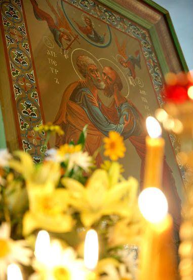 Праздничная икона святых апостолов Петра и Павла