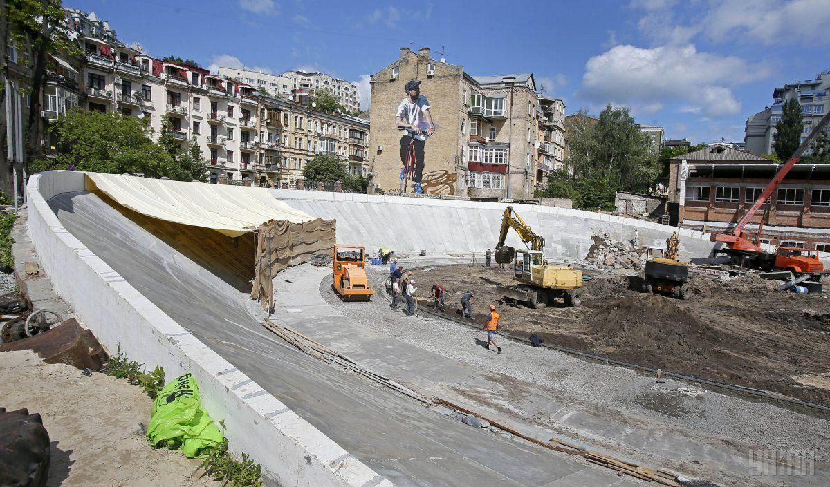 Реконструкція велотреку в Києві / УНІАН