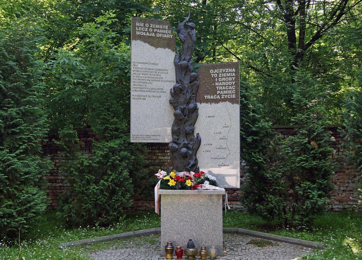 Памятник жертвам Волынской резни в Кракове. Фото: regnum.ru