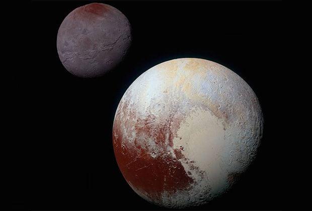 Плутон назван в честь римского бога подземного царства Плутона / NASA