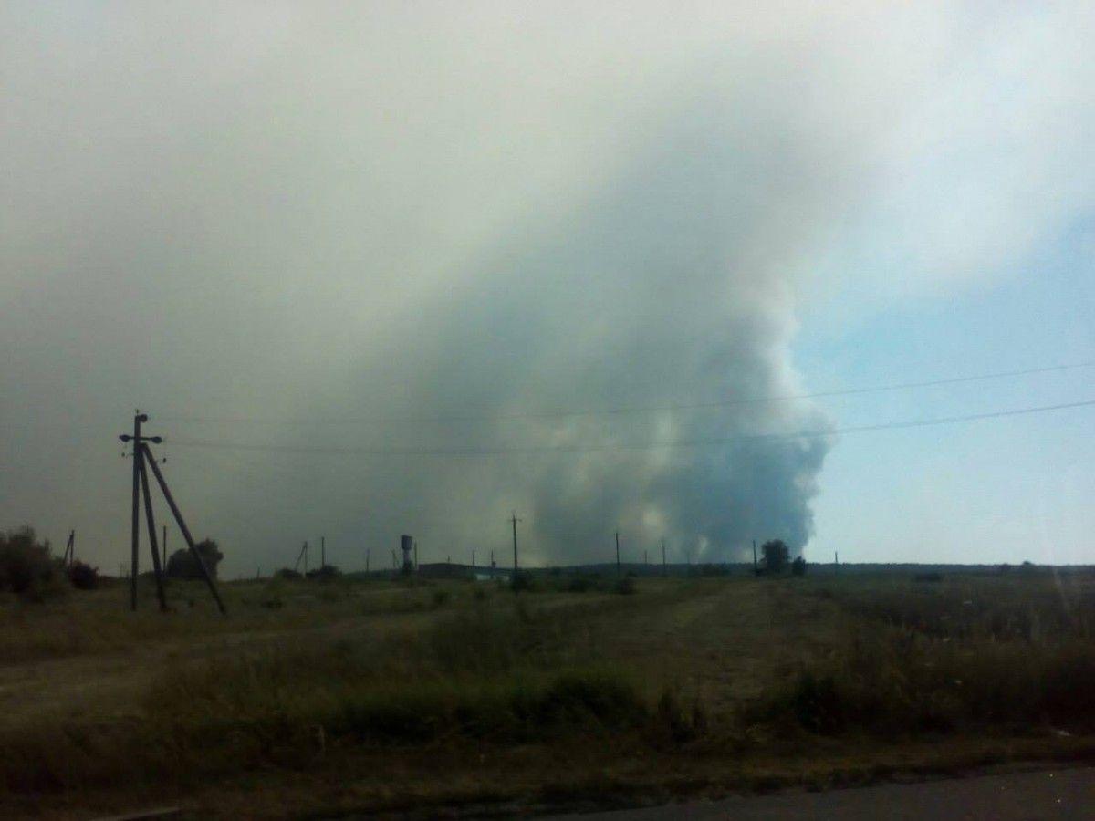полигон, пожар / facebook.com/MNS.GOV.UA