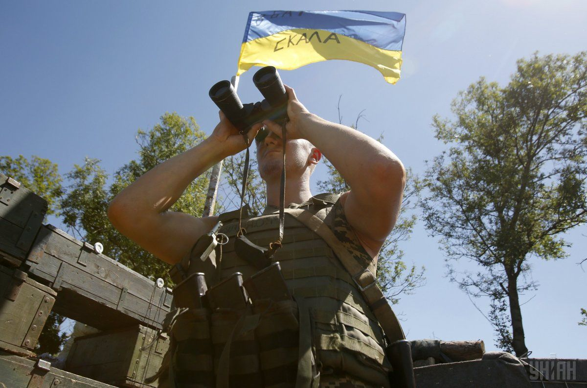 Ukraine's ATO forces do not respond to Russian forces' provocation / Photo from UNIAN