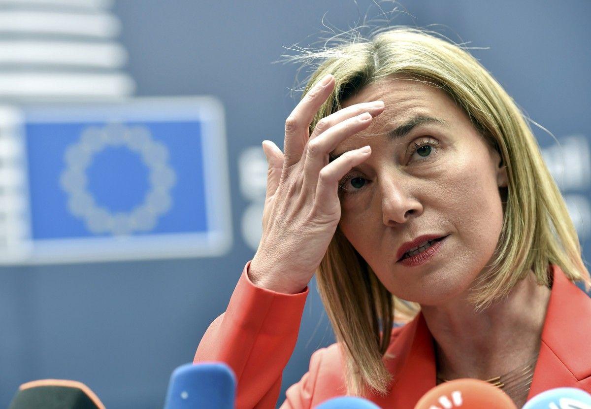 Верховный представитель ЕС по вопросам внешней политики и политики безопасности Федерика Могерини / фото REUTERS