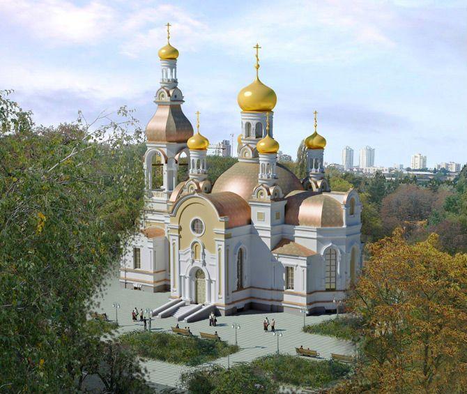 Образ святого Сергия в храме в честь иконы Божией Матери