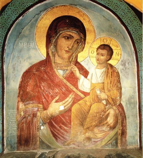 Икона Богородицы Пироволифиса (Простреленная).