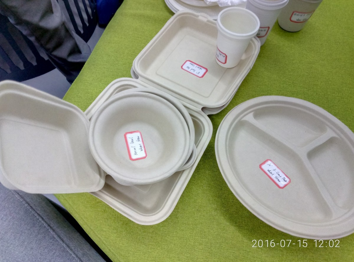 крохмаль та пшенична солома, перетворені в одноразовий посуд однією / facebook.com/greencubator