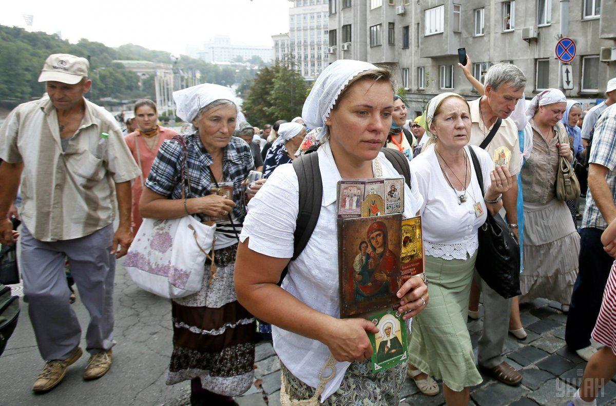 Крестный ход УПЦ МП в Киеве / фото УНИАН