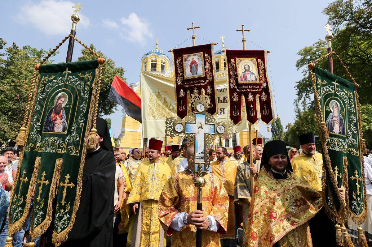 """Патріарх передав """"найтепліші вітання усім українцям, охопленим любов'ю Константинопольської Матері-Церкви"""" / Фото УНІАН"""