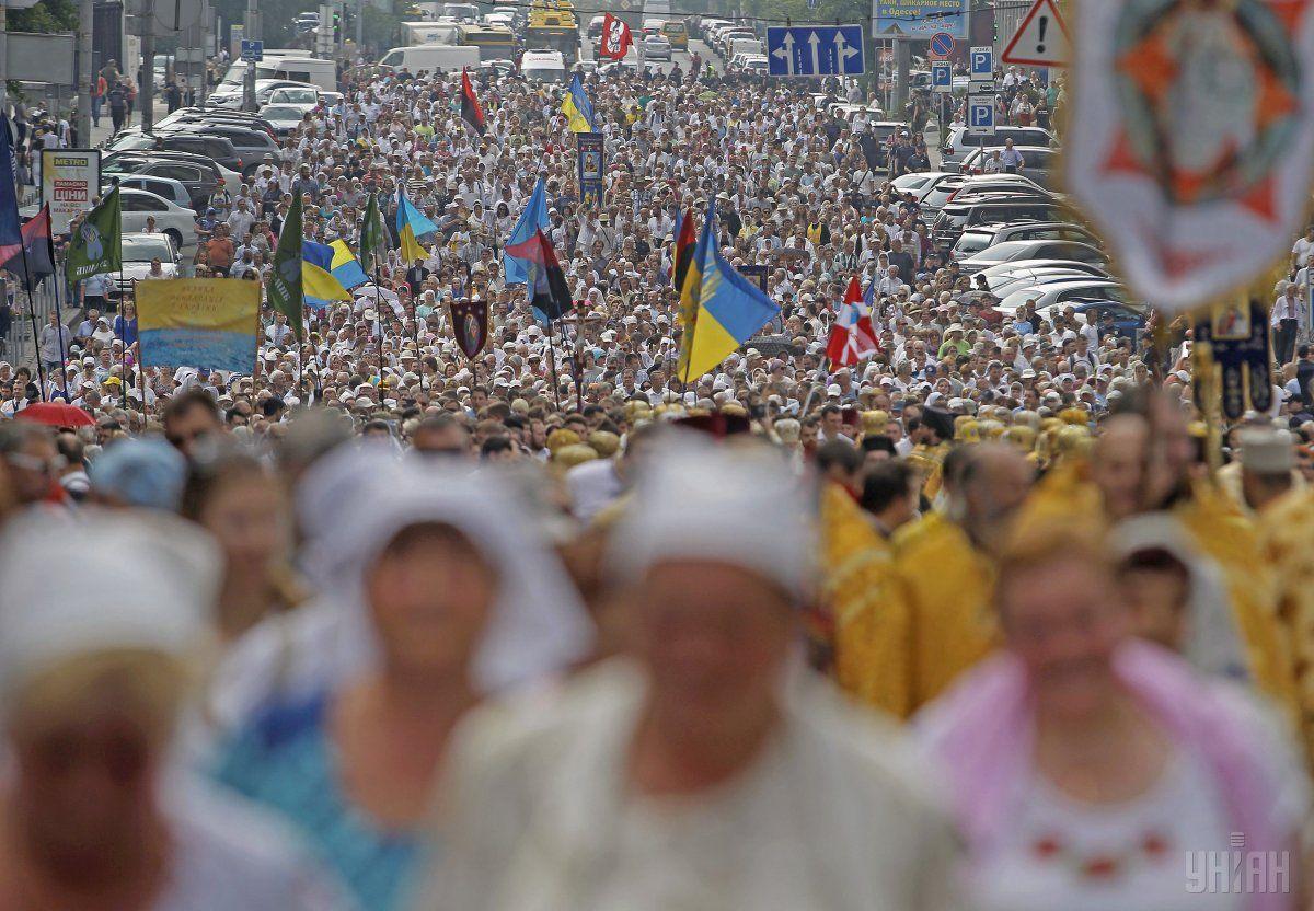 Сегодня верующие пройдут крестным ходом / фото УНИАН