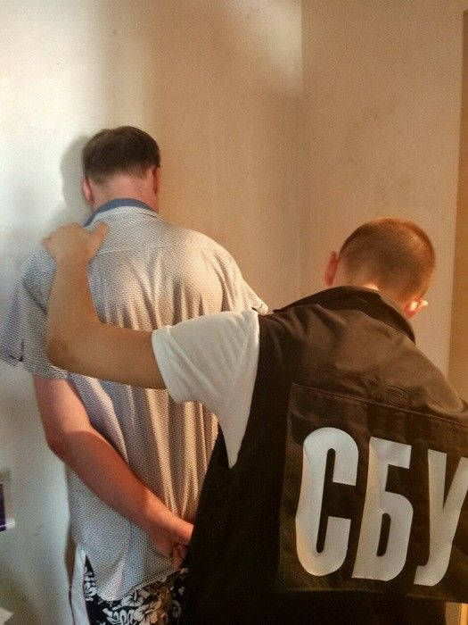 The suspect had separatism-promoting leaflets / Photo from ssu.gov.ua