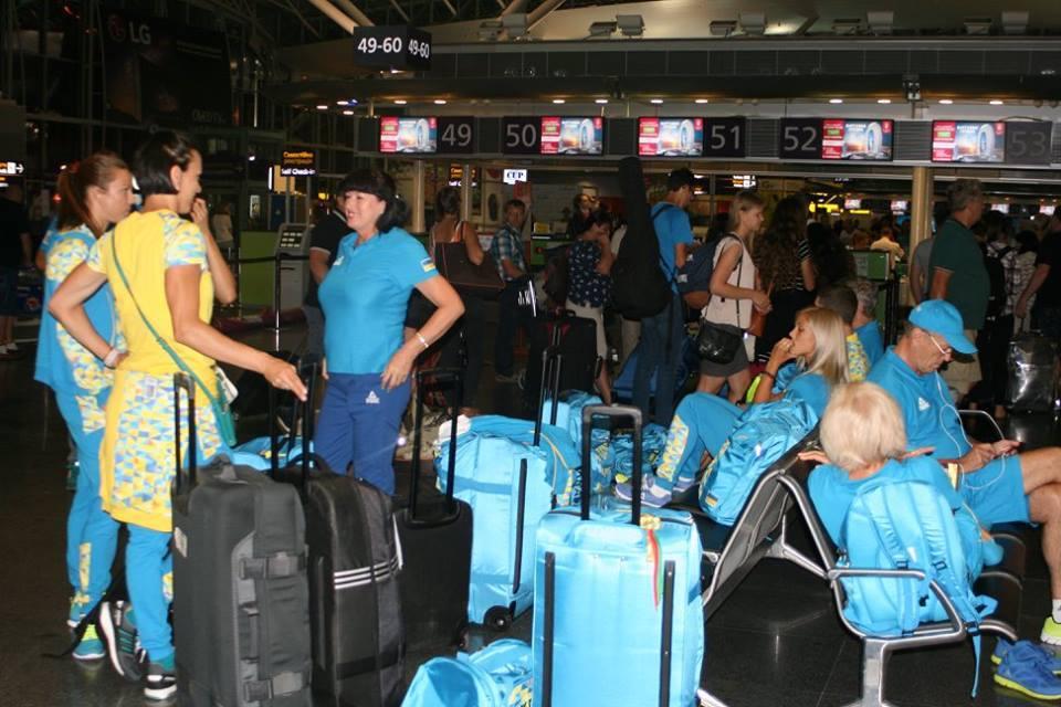 Українські легкоатлети вирушили до Ріо / facebook.com/olympicua