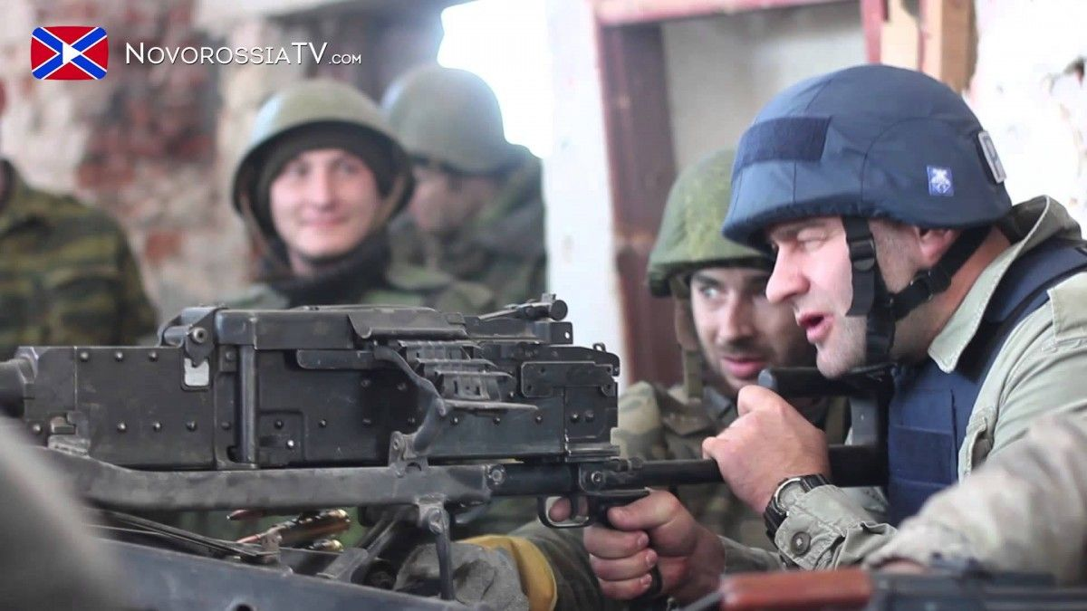 Porechenkov firing on Ukrainian soldiers at the Donetsk airport / youtube.com