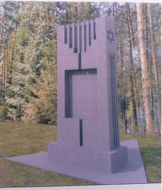 Ескіз майбутнього пам'ятного знака, наданий ініціаторами встановлення. Фото: brovary.pravo-znaty.org.ua