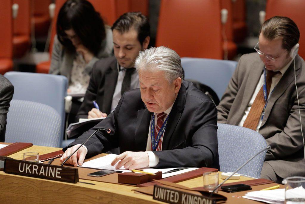 Ukraine's envoy Volodymyr Yelchenko / un.org