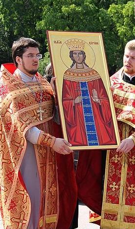 Икона святой Ирины написана выходцами из Кропивницкого. Фото: fotoinform.net