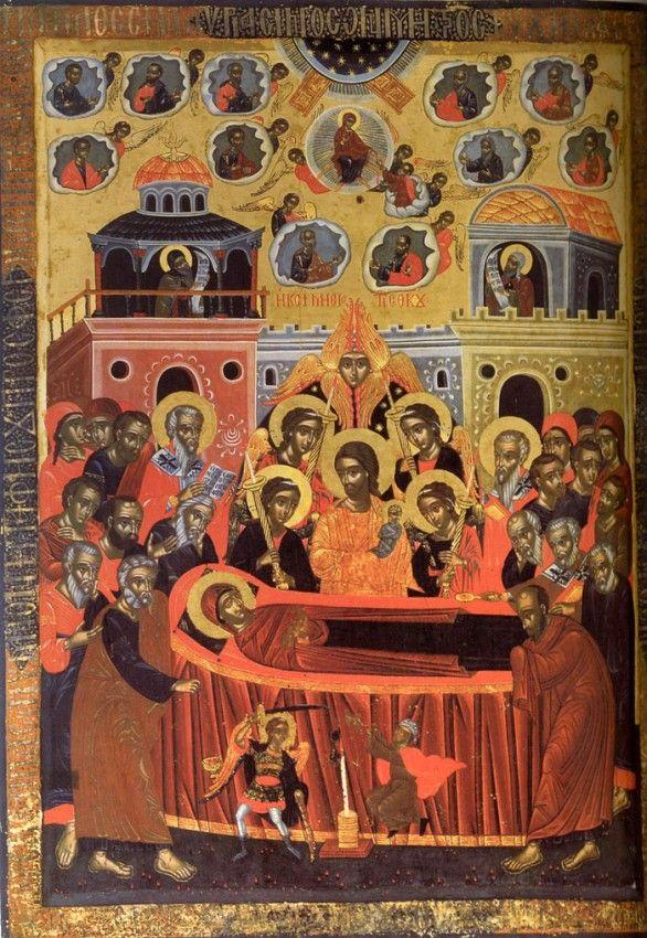 Успение Пресвятой Богородицы. Афонский монастырь Пантократор, XVII век