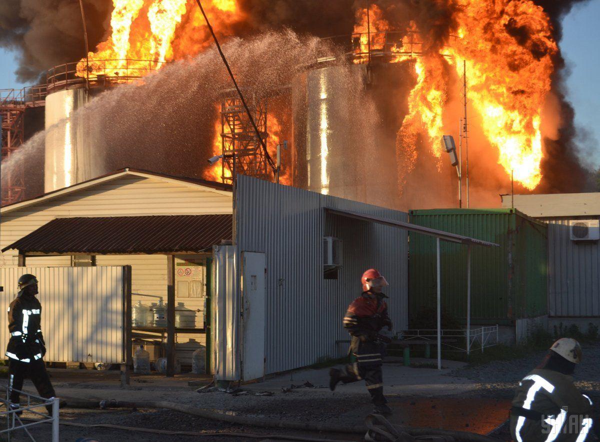 Нанафтобазі «БРСМ» під Києвом пожежа
