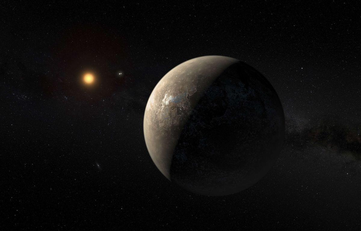 Визуализация экзопланеты Проксима b / REUTERS
