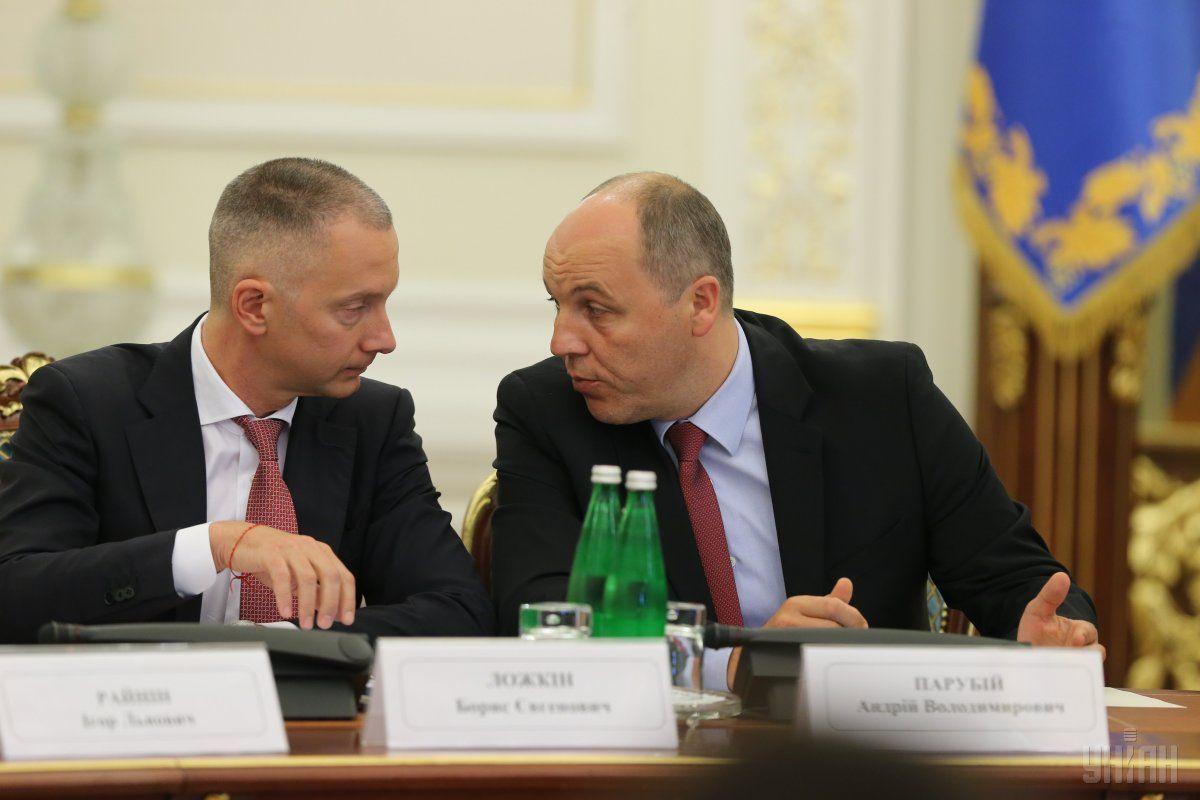 Борис Ложкин и Андрей Парубий / УНИАН