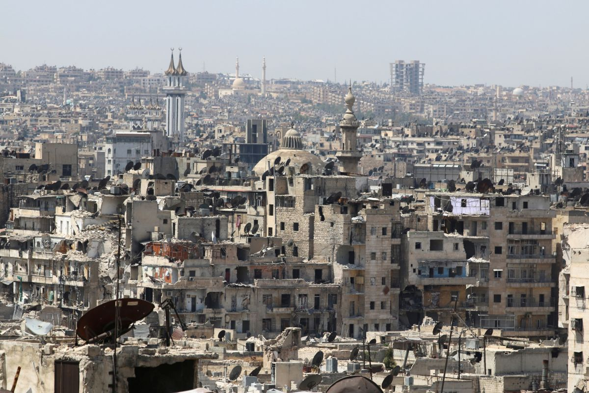 The demolished city of Aleppo / REUTERS