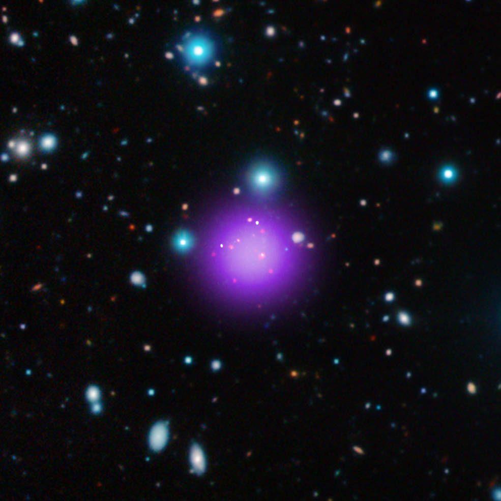 В состав кластера входят 11 галактик / Фото nasa.gov
