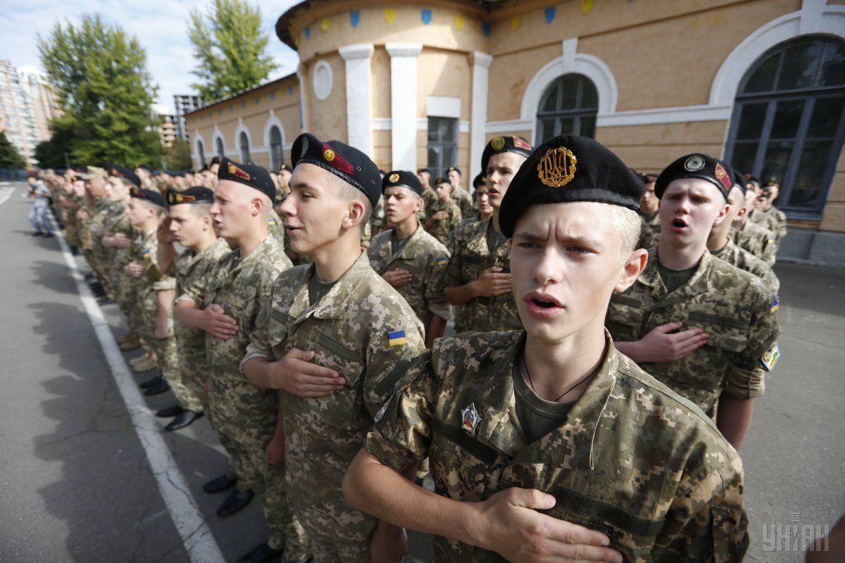 Курсанты военного лицея имени Богуна / фото УНИАН