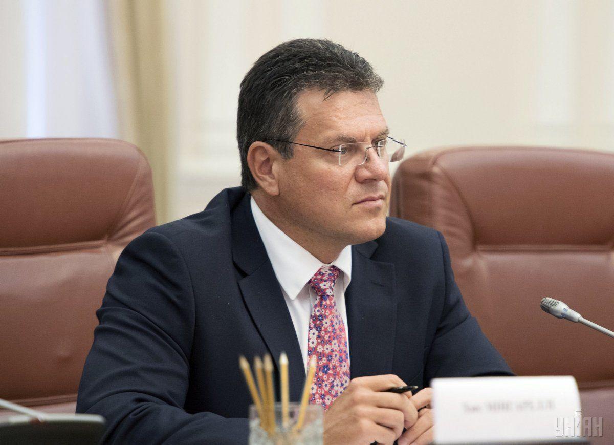 Шефчович: стороны договорились отделить обсуждение транзитного контракта от старых вопросов / Фото УНИАН