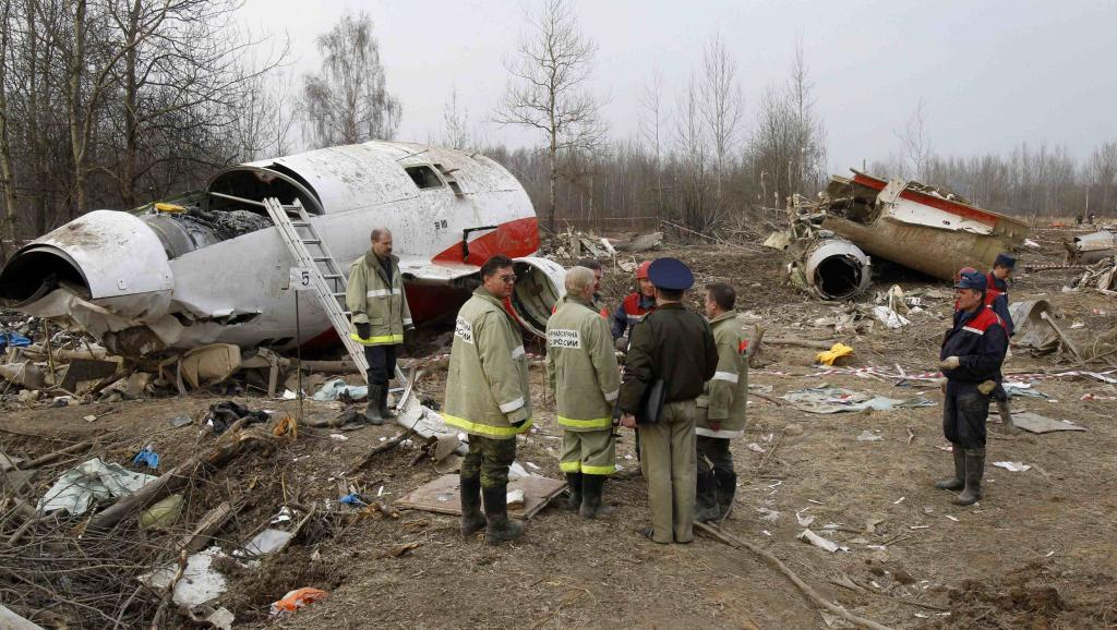 Место катастрофы самолета президента Польши Леха Качиньского / REUTERS