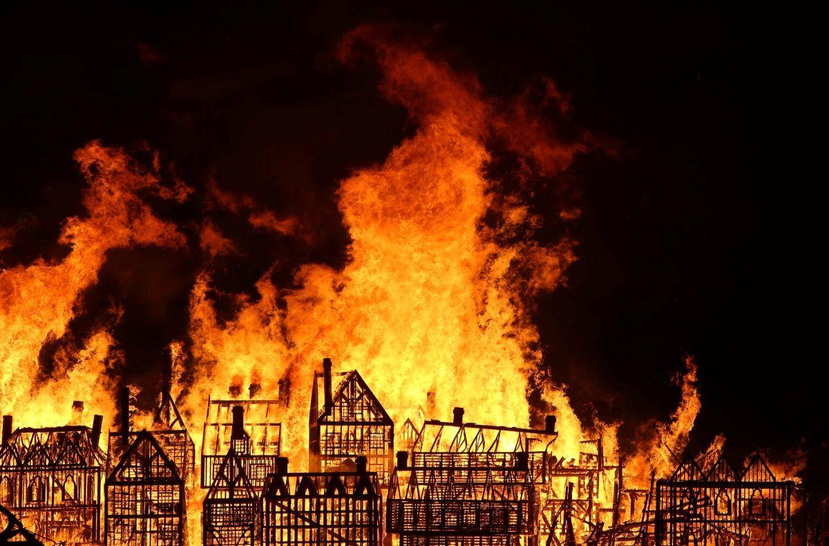 великий лондонский пожар картинка