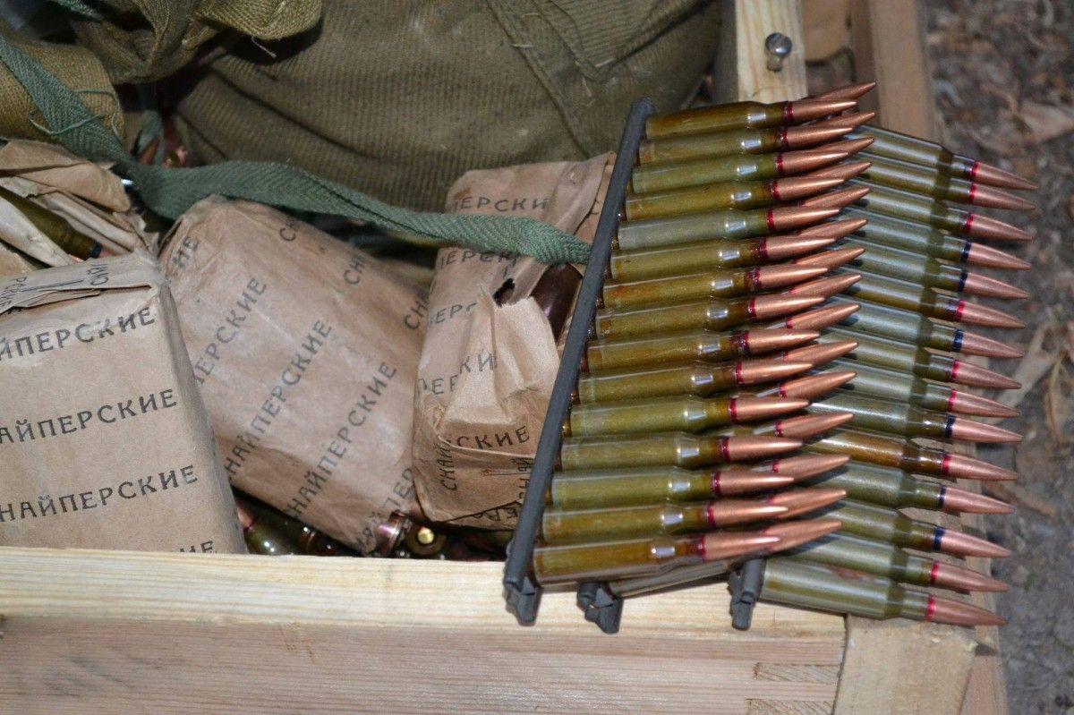 В схроне обнаружено около 1000 патронов различных калибров \ facebook.com/ato.news