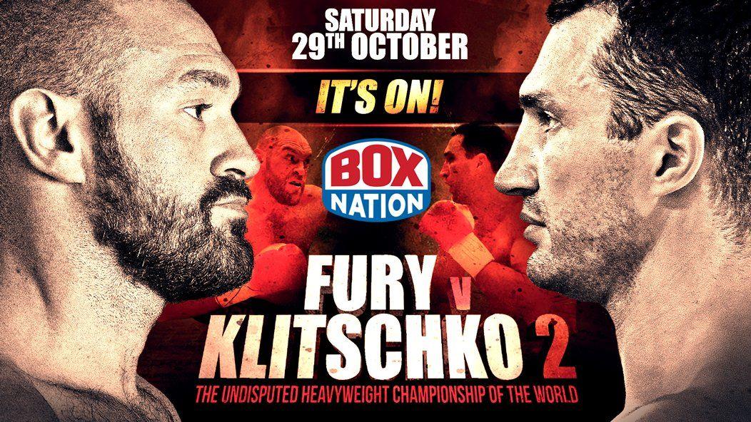 Кличко и Фьюри сойдутся 29 октября в Манчестере / twitter.com/boxnationtv