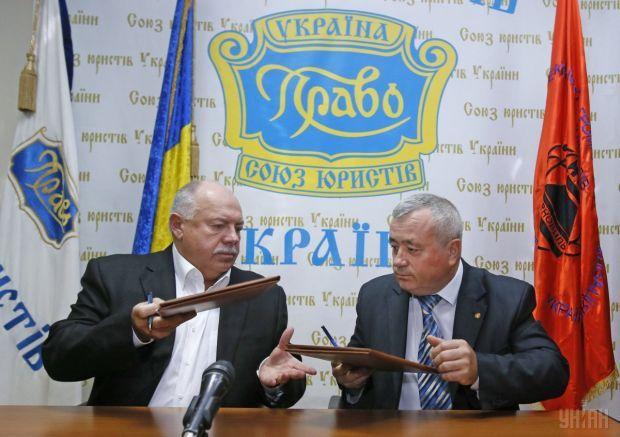 Меморандумі про співпрацю підписали Святослав Піскун та Володимир Войтов / фото УНИАН