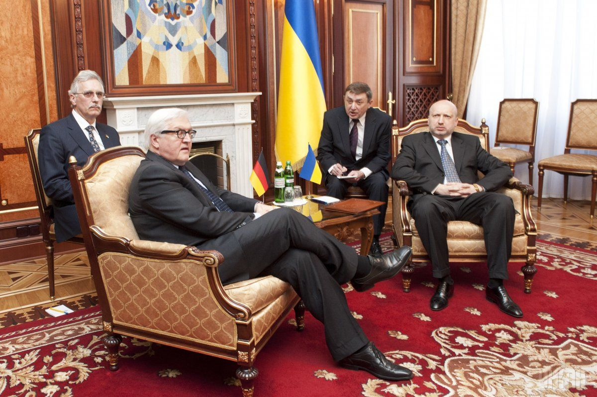 Oleksandr Turchynov and Frank-Walter Steinmeier / Photo from UNIAN