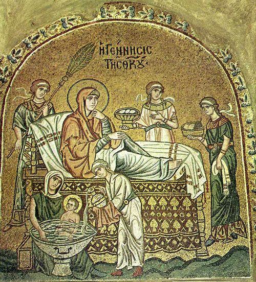 Мозаика греческой церкви Успения в Дафни