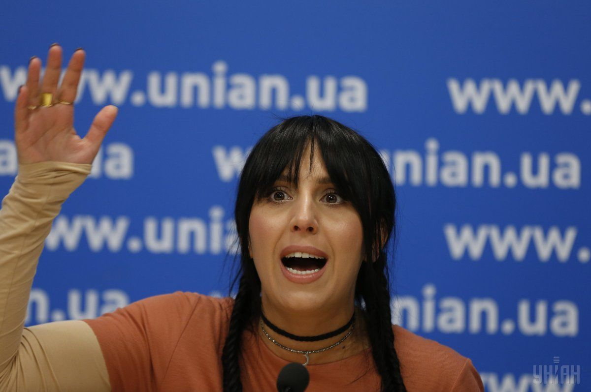 Jamala said that the weather was terrible / Photo from UNIAN