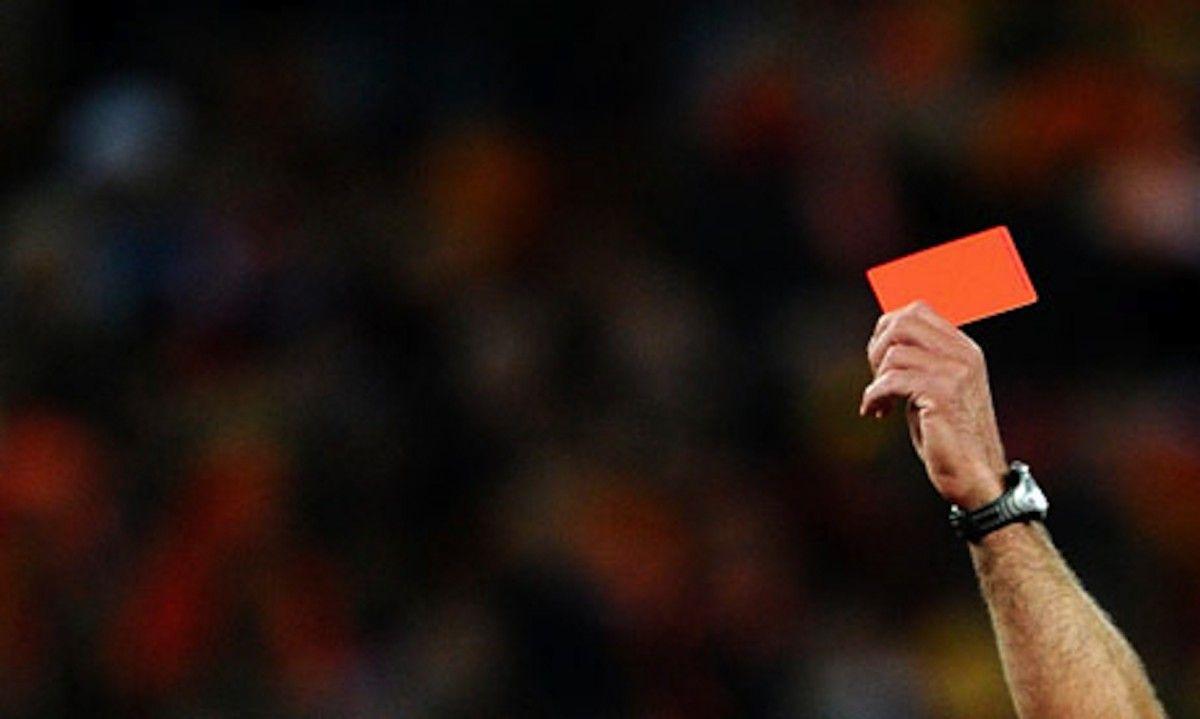 Футболіст отримав пряму червону картку / фото sport-xl.org