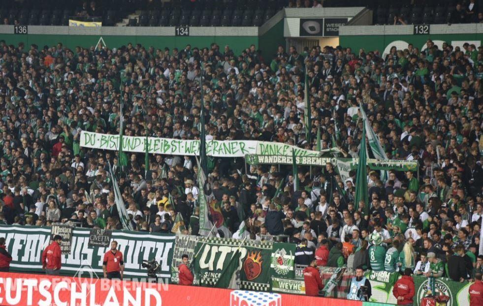 Фанаты поддержали Скрипника / @werderbremen