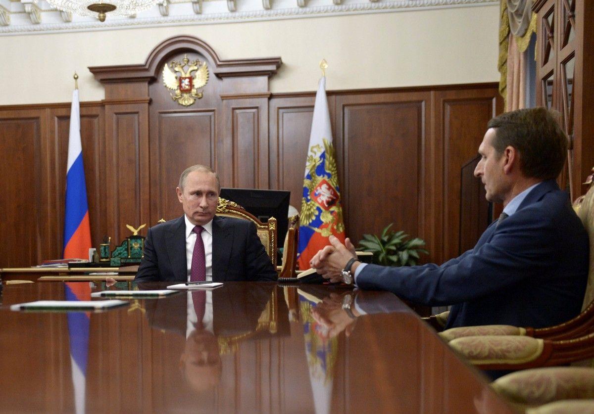 Владимир Путин и Сергей Нарышкин / REUTERS
