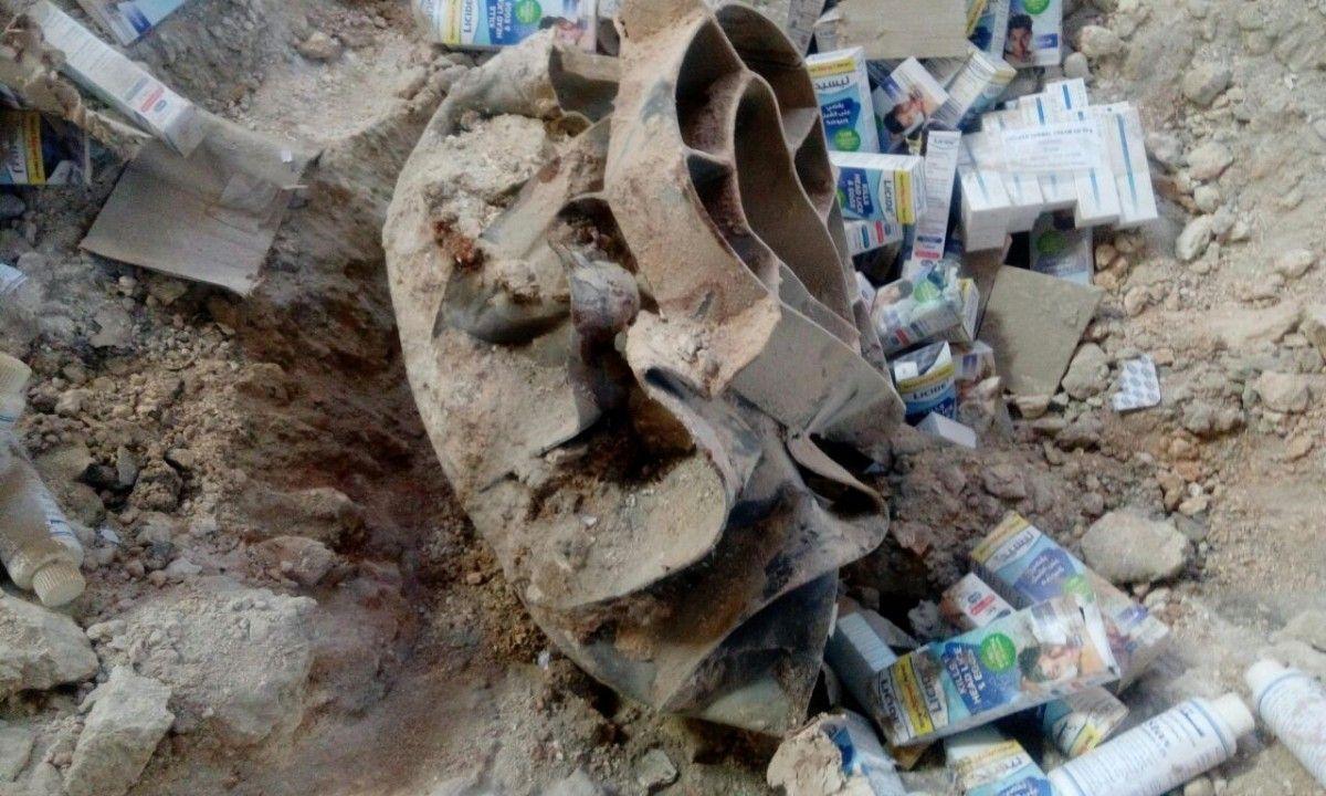 Разбитый гумконвой ООН возле Алеппо / Bellingcat