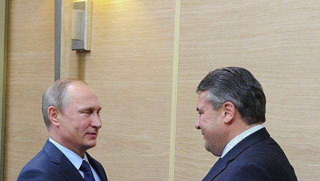 Путин и Габриэль / ria.ru